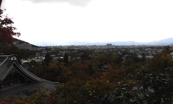 永観堂・京都市街