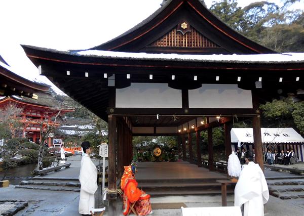 上賀茂神社・橋殿、新年